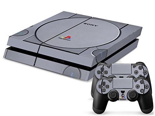 Sony PS4 Playstation 4 Skin Design Foils Aufkleber Schutzfolie Set - Retro PSOne Motiv