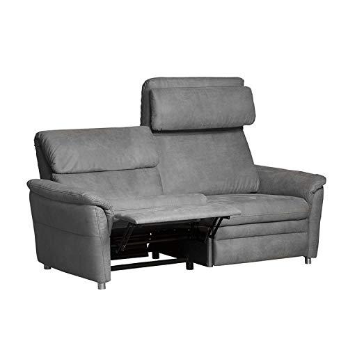 Cavadore 3-Sitzer Sofa Chalsay inkl. verstellbarem Kopfteil und Relaxfunktion / mit Federkern / 3er Kinosessel im modernen Design / Größe: 179 x 94 x 92...