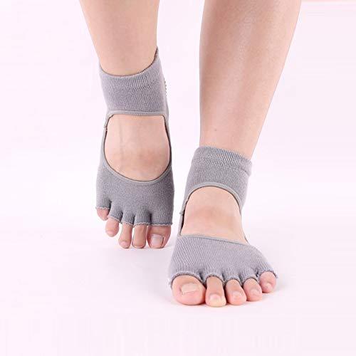 Silverdee Dedo del pie Dedo del pie Calcetines Separados Mujer Silicona Antideslizante Dedo del pie Calcetines algodón Profesional Pilates Yoga Calcetines sin Costuras