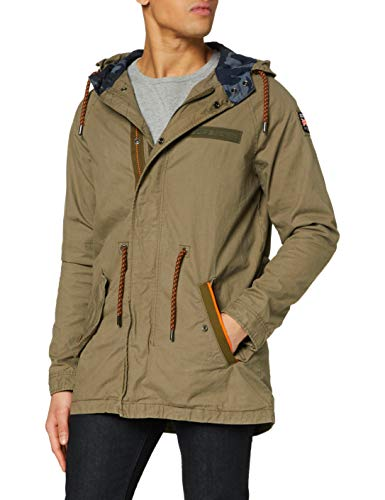 Superdry Herren Aviator Rookie Parka Jacke, Grün (Troop Khaki OY3), XL