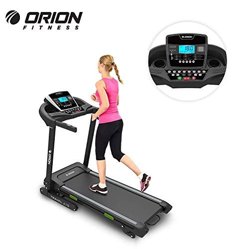 """Heimtrainer Fitnessgerät für fitness bis zuhause elektrisches Klappbar Laufband ORION TRAVEL J10 ,automatische Steigung auf 15 Ebenen, 5""""LCD-Computer,Höchstgeschwindigkeit 16 km/h, Motor 2 PS(3PS)"""
