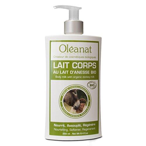 Oléanat Lait Corps au Lait d'Ânesse Biologique 250 ml