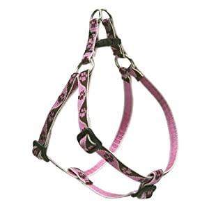 LupinePet Originals 1/2″ Tickled Pink Step In Dog Harness