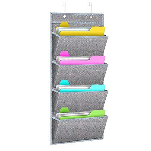 Hanging Wall Organizer,WishAcc Wall Mount/Over The Door Office Supplies  Storage Mail Organizer