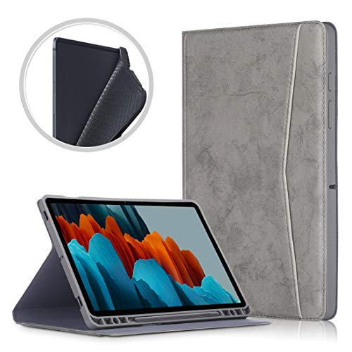 WEI RONGHUA Tablet Cases For Samsung Galaxy Tab S7+ T970/T976B TPU Front Support Horizontal Flip Leather Case with Holder & Pen Slot & Sleep/Wake-up Function accessories (Color : Dark Grey)