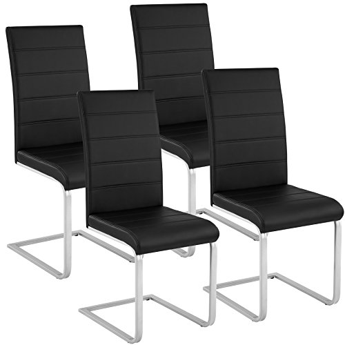 TecTake Esszimmerstühle Schwingstuhl Set | Kunstl...