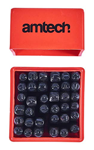 Amtech H0500 Number and Letter Punch Set, 36-Piece