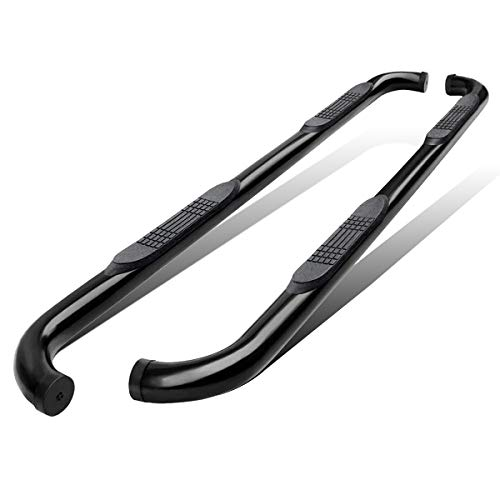 AUTOSAVER88 Nerf Bars Fit for 2009-2018 Ram 1500 & 2010-2018 Ram 2500 3500 4500 5500 Crew Cab 3 inch Side Steps, Running Boards Off Road Exterior Accessories - Gloss Black Power Coating Finish