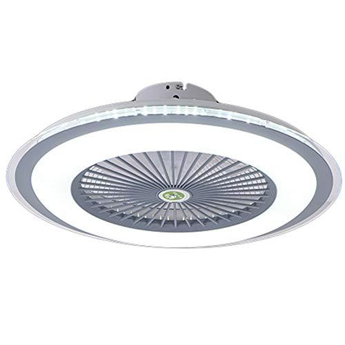 Ventilador De Techo LED Con Iluminación 80W Luz De Techo Fan Silencioso Invisible Lámpara De Techo Regulable Con Control Remoto Lámpara De Ventilador Moderna Habitación Para Niños Dormitorio (Gray)