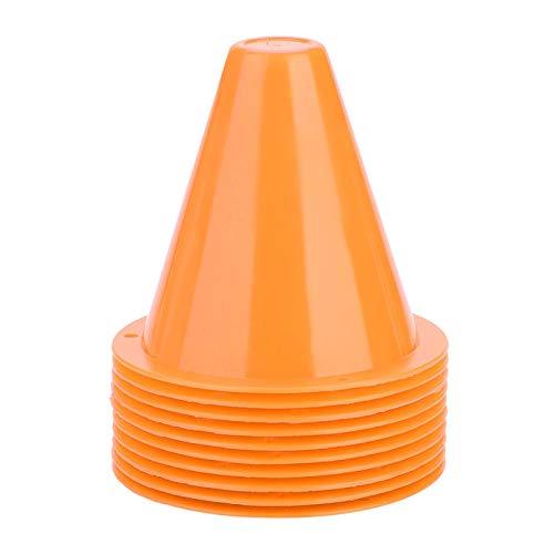 Marker piłkarski, trwały, kolorowy pachołek do piłki nożnej, pachołek treningowy, materiał PE 10 sztuk do piłki nożnej dla chłopców(Pomarańczowy)