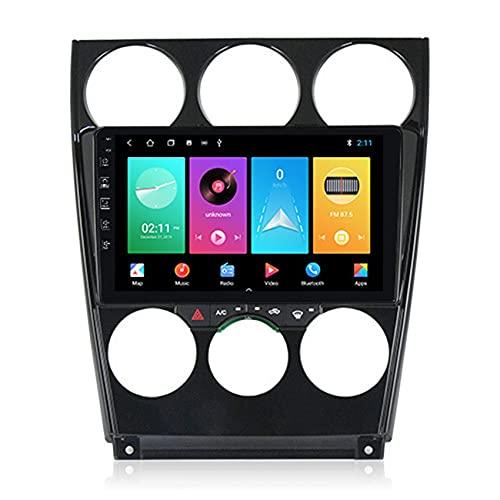 Amimilili Android 9 para Mazda 6 2004-2014 Car Radio Stereo 9 Pulgadas Pantalla táctil GPS navegación BT USB WiFi Llamadas Manos Libres/FM/Control del Volante +cámara Trasera,4core WiFi:1+16g