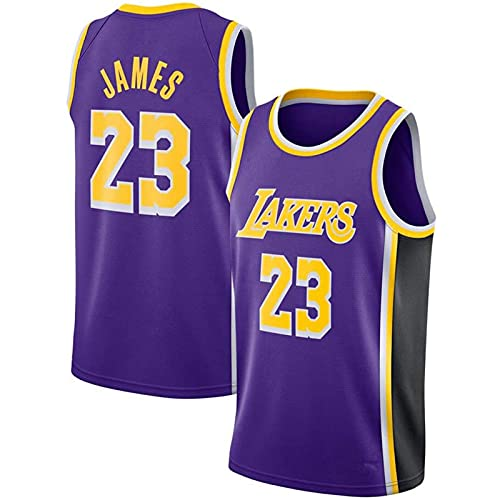 Trade Los Angeles Lakers Lebron James Baloncesto Masculino Cosido Transpirable # 23 Sport Swingman Jersey Ropa, Fresco y Transpirable Tejido Deportivo, Que Absorbe la Humedad(Size:L,Color:A2)