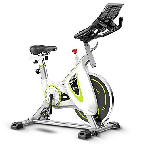 HHHKKK Bicicleta de Spinning Bicicleta Indoor Manillar Ajustable y Asiento Transmisión por Correa Silenciosa Bicicleta Estática Plegable El Diseño de la Rueda es Fácil de Mover
