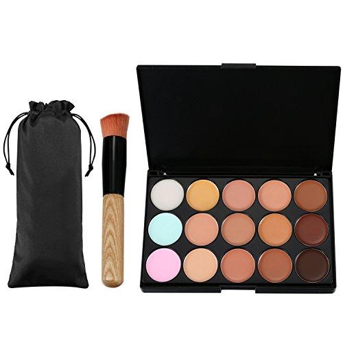 Vtrem 15 Couleurs Palette Correcteur De Teint Anti-Cernes Contour Palette Concealer Maquillage Professionnel Avec Pinceau De Maquillage