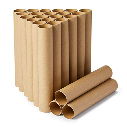 Craft Rolls, 24-Pack Paper Cardboard Tubes for DIY Crafts, 9.8 Inches, Brown