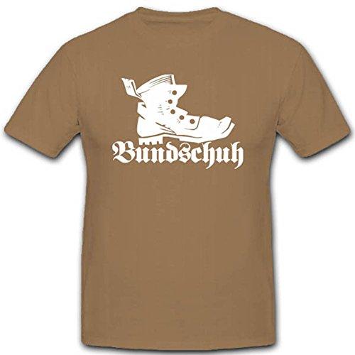 Bundeswehr Bekleidung Kampfstiefel Knobelbecher Alter Schuh - T Shirt #2901, Farbe:Sand, Größe:Herren XXL
