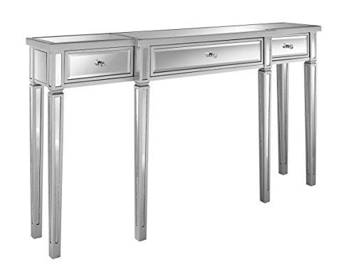 "Pulaski Damon Mirrored Console Table, 59.0"" L x 12.25"" W x 33.0"" H"