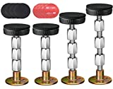 4Pcs Bed Frame Anti-Shake Tool, Threaded Adjustable Headboard Stoppers, Prevent loosening Fixer Bed Frame, Bedside Telescopic Support Headboard Stabilizer for Room Wall,Beds Cabinets,Table 28mm-106mm