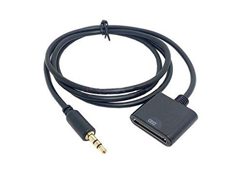 Sistema de entrada S de 30Pines, Hembra a clavija de 3,5mm, Cable adaptador auxiliar para estaciones de acoplamiento con conector de 30Pines