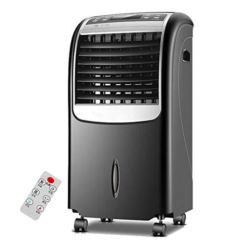 TESITE Portatil Aire Acondicionado Ventilador/con Doble Uso Frío Y Caliente Ventilador/Purificador de Aire/con Mando Remoto/15 Horas Temporizador/Tanque de 8 litros/Negro
