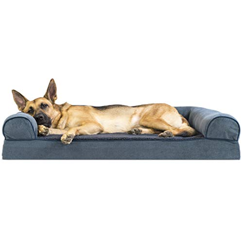 Furhaven Memory Foam Pet Bed for Dogs and Cats -...