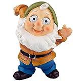 Blazin' Gnome Solar Garden Decorations | Hanging Outdoor Patio Decor, Gnome Figurine, Lawn Ornaments | Solar Statue for Terrace, Balcony, Deck | Weather Resistant | Patio Gift | Auto On/Off - (Yellow)