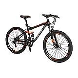 Eurobike SD-S7 Suspensión completa 27.5 bicicleta de montaña para adultos 18 pulgadas bicicleta marco de acero bicicleta (rueda de radio regular)