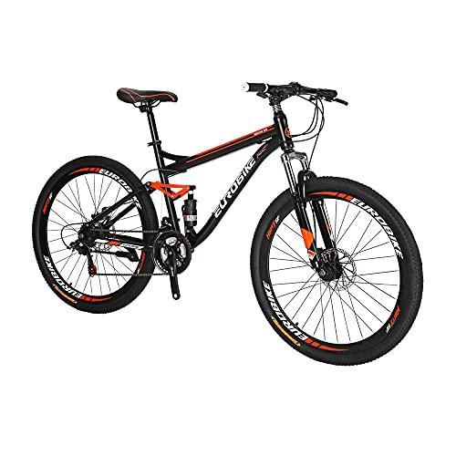 Eurobike SD-S7 Vélo de montagne à suspension complète 27,5 p