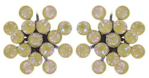 Konplott Ohrringe/Brisuren Magic Fireball 21mm silver lemon jelly crystal sunshine de lite