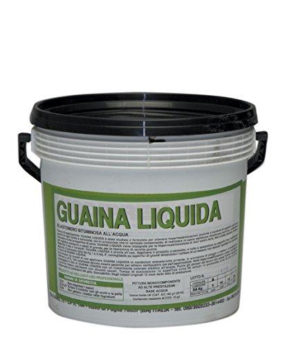 GUAINA LIQUIDA BITUMINOSA ELASTOMERO ALL'ACQUA KG.18 NERA IMPERMEABILIZZANTE
