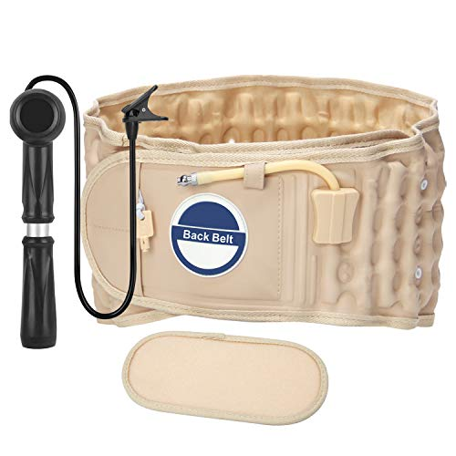 Decompression Back Belt,Extended Pad Back Support Belt Lumbar Traction Belt Lower Back Pain Relief Belt Fits 29-49 Waist
