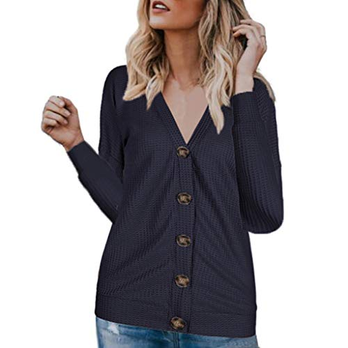 Best Bargain Lovor Womens Waffle Knit Tunic Blouse Sale V-Neck Long Sleeve Button Down Henley Shirts...