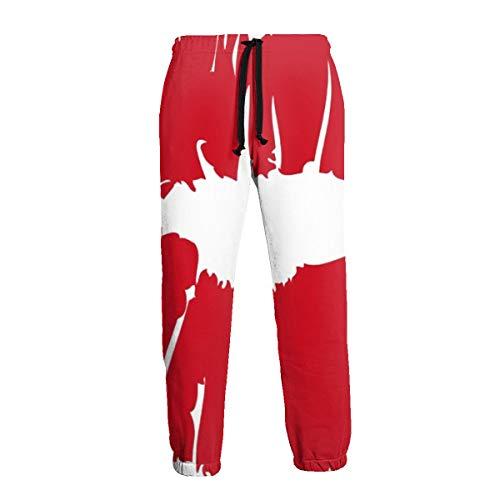 Frauen Mädchen Roter Lippenstift Kissmark Männer Sporthose Weiche Jogginghose mit Taschen Joggerhose für Das Training im Fitnessstudio XXL