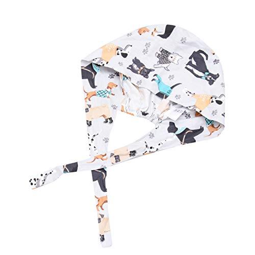 TENDYCOCO Peeling-Hut Verstellbare Chirurgische Peeling-Kappe mit Schweißband-Arbeitshut für Unisex-Arzt - Mehrere Muster
