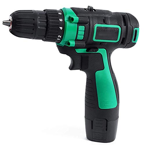 ZXL 12V Two-Way Charging Drill Lithium Battery Precision Electric Screwdriver Home DIY Cordless Electric Drill Bit Power Tool Set