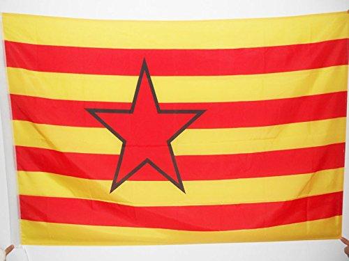 AZ FLAG Bandera de Aragon ESTRELADA INDEPENDENTISTA 150x90cm para Palo - Bandera ARAGONESA - NACIONALISMO ARAGONÉS 90 x 150 cm