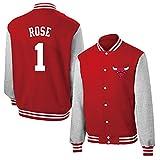UIQB # 1 Giacche da Pallacanestro da Uomo Rosa - Chicago Bulls Classic Baseball Camicia da Baseball per Donna e Uomini Black Mamba Basketball Swingman Felpa S - 3XL Red-XXL