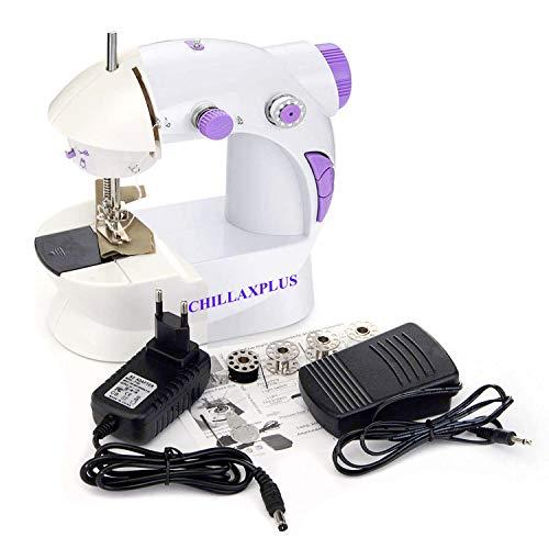 CHILLAXPLUS Mini Portable Electric Dual Speed Sewing Machine