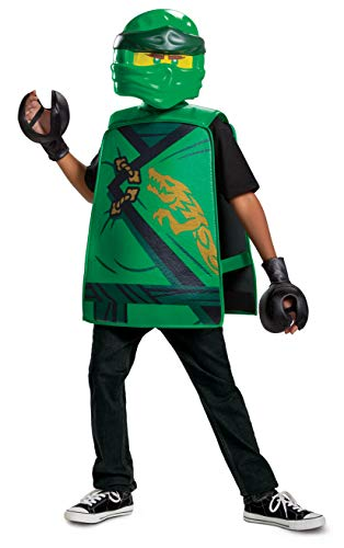 Lloyd Costume for Kids, Lego Ninjago Legacy Themed Basic Character Accessories, Single Child Size Green