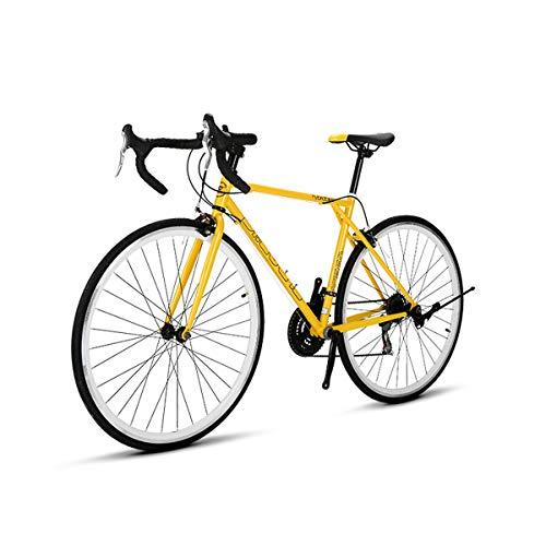 700C Ruedas Gravel Adventure Bicicleta Deportiva de Carretera, Marco de Acero de Alto Carbono con...