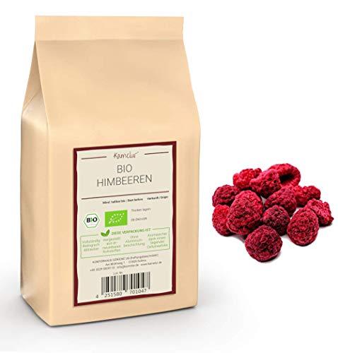 500g gefriergetrocknete BIO Himbeeren - ganze getrocknete BIO Früchte, ohne Zusätze - in biologisch abbaubarer Verpackung