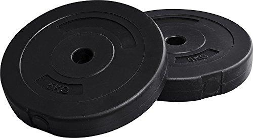 【2個セット】FIELDOOR ダンベル 10kg×2(20kg)/20kg×2(40kg) ポリエチレン製 標準シャフト径28mm ジョイントシャフトで連結可能 (【M】別売5kgプレート×2セット(ブラック))
