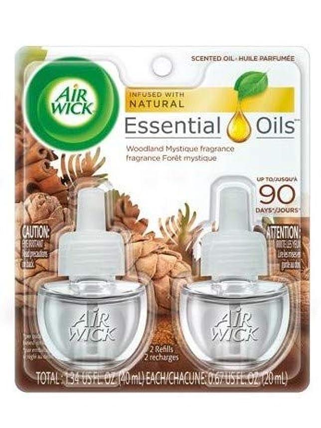 上院議員ライラックフラップ【Air Wick/エアーウィック】 プラグインオイル詰替えリフィル(2個入り) ウッドランドミスティーク Air Wick Scented Oil Twin Refill Woodland Mystique (2X.67) Oz. [並行輸入品]
