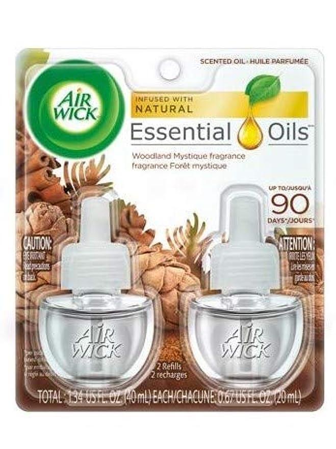 高齢者ロバ効果的に【Air Wick/エアーウィック】 プラグインオイル詰替えリフィル(2個入り) ウッドランドミスティーク Air Wick Scented Oil Twin Refill Woodland Mystique (2X.67) Oz. [並行輸入品]