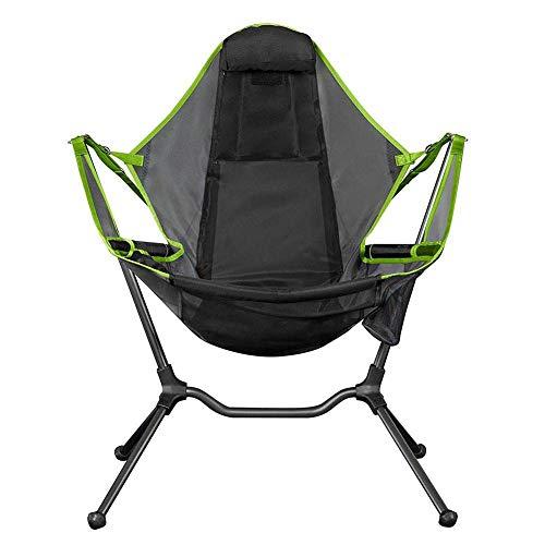 WWVAVA silla de camping portátil plegable mecedora con almohada para viajes al aire libre playa senderismo picnic asiento herramientas silla