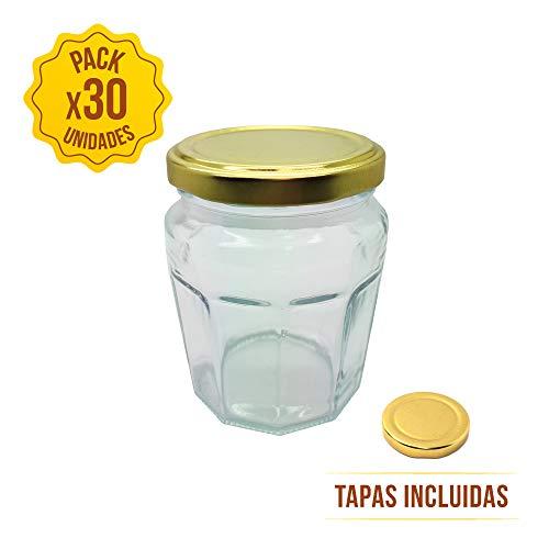 TAPAS & ENVASES RIOJA Tarros de Cristal para conservas con Tapa de...