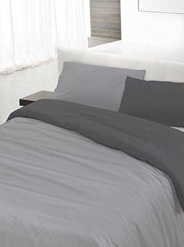 Italian Bed Linen Set Copripiumino Grigio 250 x 200 cm