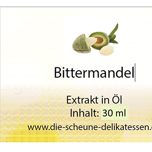 Die Scheune GmbH - Bittermandel Aroma 100% natürlich (30ml) zuckerfrei entspricht 1130 Teelöffeln Bittermandelölextrakt | Bittermandelaroma, Backaroma Bittermandel, Bittermandeln, Bittermandelnöl, Bittermandelnextrakt, Bittermandel Extrakt, natürliches Bittermandel Aroma