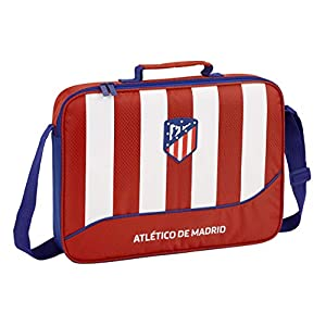 41HabQK2SDL. SS300  - Club Atlético de Madrid Atlético De Madrid Bolso Maletín Cartera extraescolares niño Equipaje para niños, Roja, 38 cm
