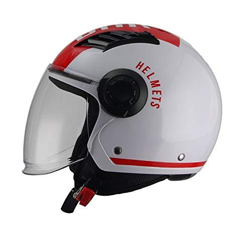 BHR Casco Moto, Rosso, S
